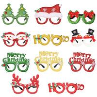 nette partygläser großhandel-Netter Xmas Party Gläser Weihnachten Themed Dekorative Buchstaben Elk Antler Gläser Party Supplies Weihnachtsdekoration Qualitäts-Gläser M247Y