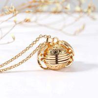 collar de perlas de rubí al por mayor-La expansión de la cadena Collares Locket del collar de la familia dejó la caja Marco de fotos