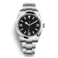 relógio de movimento relojes venda por atacado-Top New Assista Explorador Mostrador Preto de Aço Inoxidável Automático 2813 Movimento Relógio Data Reloj De Lujo Montre Relojes De Marca Relógio De Pulso