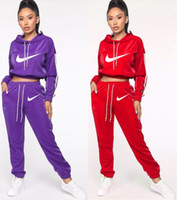 Wholesale sexy hot night suit for sale - Group buy Women long sleeve Tracksuit Piece Set Outfits sexy sportswear Jogging Sports hoodie leggings Suits night wear women clothing very hot