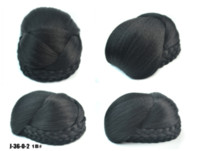 Wholesale chignon for sale - Group buy Heat Resistant Fiber Black Light Brown Blonde Women Synthetic Hair Buns Clip in Big Size Chignons for Ladies