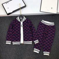 куртки для мальчиков оптовых-Дети осень наборы дети мальчик девочка печати куртки с брюками Детская мода повседневная 2шт наряды розничная одежда