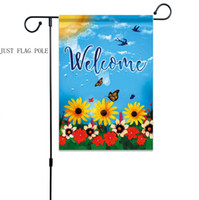 Wholesale metal yard for sale - Group buy Garden Flags Poles Metal Garden Hanging Flags Flagstick Yard Flag Holder Birthday Party Christmas Halloween Decor YW3351
