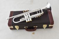 trompet enstrümanı toptan satış-2019 Bach Trompet LT190S-85 Müzik enstrüman Bb düz trompet Sınıflandırma tercih trompet profesyonel müzik Ücretsiz kargo