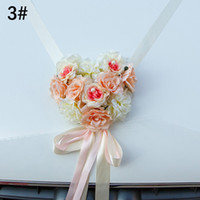 Wholesale wedding car ribbons for sale - Group buy Wedding Car Decoration Artificial Flowers Ribbon Bowknot Wedding Home Decoration Supplies LBShipping T191102