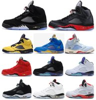 Wholesale oreo 5s basketball shoe resale online - High Quality s Black Metallic M Reflect Black White Grape Oreo Basketball Shoes Men s Red Suede White Cement Sneakers With Box