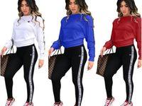 Wholesale sports clothing resale online - New Arrival Women Champions Tracksuit Hoodies Sweatshirt Pant Running Sport Track suit Piece jogging sets survetement femme clothing