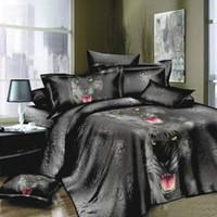 Wholesale printing 3d bedding set for sale - Group buy wholesales D Printed Bedding Set Bedclothes Black Tiger Duvet Bedding sets