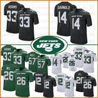 cj maillot achat en gros de-26 Le'Veon Bell New York 33 Jamal Adams Jets 14 Maillot de football Sam Darnold 12 Joe Namath 95 Quinnen Williams 57 CJ Mosley