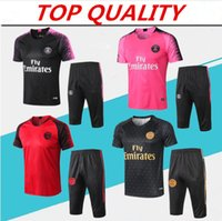Wholesale man short sleeves sweater for sale - Group buy PSG training suit Short sleeve pants soccer jersey maillots de football sportswear MBAPPE paris track suit sweater