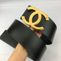 kemer mektupları toptan satış-Moda kemer yeni lady sıcak büyük altın harfler pürüzsüz toka kemer eğlence moda iş kemer yüksek kalite genişliği 7.0 cm C65