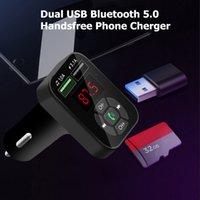 carregador de carro 4.1a venda por atacado-FM Transmitter Aux modulador Bluetooth Car Kit Car Audio MP3 Player adaptador 4.1A Quick Charge carregador duplo USB