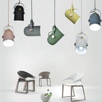 aydınlatma kolye droplight lambası toptan satış-Modern İskandinav Minimalizm droplight Açı ayarlanabilir E27 lambaları küçük kolye ışıkları, Ev dekor aydınlatma lambası ve Bar Vitrin spot ışık