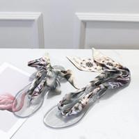 yeni kauçuk kadın düz ayakkabı toptan satış-2019 Yeni Moda Stil kadın Düz Topuklu Dantel Espadrilles Deri Ayakkabı Rahat Sandalet Kauçuk Baskı BB Terlik Flip Flop 35-41