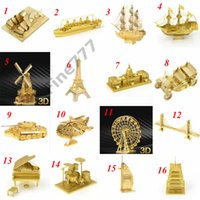 Wholesale old plane models resale online - Adults and Kids Designs Metal D puzzles Toys model DIY Aircraft Cars Tanks Tie Fighter Planes D Metallic Nano building puzzle