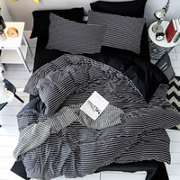 Wholesale stripped queen bedding for sale - Group buy Strip Design Bedding Set Duvet Cover Quilt Cover And Pillowcase Twin Queen Quilt Bed Linen Comforter Bedding King Sets