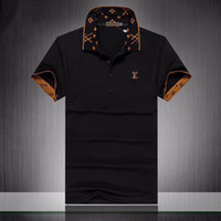 coleiras de grife venda por atacado-Luxo Mens Designer camisas Polo T Verão Manga Curta Turn Down Collar Manga Curta Tops Polo