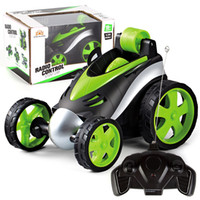 Wholesale boys remote toys resale online - Wireless RC Car Tumbling Stunt Dump Truck Remote Control Toys For Children Electric Cool RC Cars Boy Birthday best Gifts kids toys