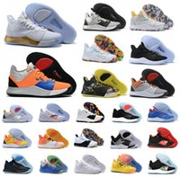 id zapatos deportivos al por mayor-Caliente Paul George PG 3 zapatos de baloncesto PALMDALE 3S III TS GS ID EP Tamaño barato PG3 estrellada Azul Naranja Deportes zapatillas de deporte 40-46