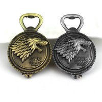 Wholesale accessories game thrones resale online - Game Of Throne keychain Song of Ice And Fire Keychains Bottle Opener Home Decor Kitchen Accessories Party Supplies