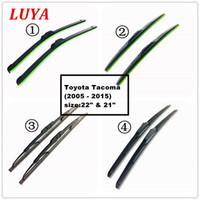 ingrosso lama tergicristallo toyota-LUYA Quattro tipi di tergicristallo Blade in tergicristallo per auto Per Toyota Tacoma (2005 - 2015) dimensioni: 22