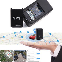 Wholesale car system gps gsm gprs online - GF07 GSM GPRS Mini Car Magnetic GPS Anti Lost Recording Tracking Device Locator Tracker rastreador tracker gps Buil in Li ion Battery