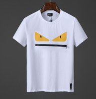 t-shirt à manches courtes achat en gros de-fendi NOUVEAUTÉ Marques d'été Hommes 3D FF ROMA Imprimé T-Shirt Sac Bugs Haut à manches courtes Homme 100% Coton T-shirt étoile femmes F07 tee pour hommes