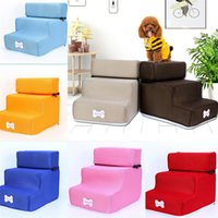 Wholesale beds sofas pet for sale - Group buy Pet Stair Steps Dog Stairs Detachable Three story Removable Washable Dog Ladder sofa sponge small dog Teddy bed ladders