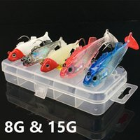 Wholesale jigging lure 8g for sale - Group buy 1 Box Color g g Jigs Fishing Hooks Fishhooks Hook Soft Baits Lures Fishing Tackle C