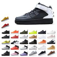 nuevos zapatos de corte alto al por mayor-Las nuevas llegadas de alta Dunk Low Cut FlyLine 1 uno zapatos para hombre de los zapatos para mujer Training Ocio monopatín de Utilidad zapatillas Negro de malva
