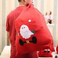 ingrosso borse da regalo in tessuto artigianale-I tessuti non tessuti sacchetto regalo di Natale Candy Bag Handmade Cartoon Babbo Natale del pupazzo di neve albero di Natale a caso Deliver Drop Shipping