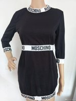 Wholesale dress repairs resale online - European and American fashion new design women s wear letter printing self repairing sexy dress
