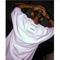 ingrosso t per le donne-New Vetements T Shirt Uomo Donna 3M Reflective Streetwear Oversize Summer TShirt Harajuku FrontBack Wear Vetements Uomo T-shirt