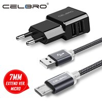 Wholesale micro usb cables cell phone online – 7mm Long Micro USB Plug Connector Fast Charging Cable A Mobile Cell Phone Charger Cabel m cm for Oukitel k10000 k6000 Pro