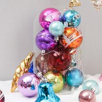 Wholesale faster ball christmas resale online - 60pcs set Christmas Tree Decor Ball Bauble Hanging Xmas Party Ornament decorations for Home Christmas decorations fast shipping