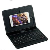 cas de cellules lg achat en gros de-Cas de protection en cuir d'unité centrale de claviers sans fil universels de claviers de téléphone portable pour l'androïde Samsung Huawei LG 4.5