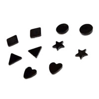 Wholesale korean magnets for sale - Group buy Korean Fashion Black Magnet Clip Earrings Magnet Without Pierced Earrings Personality Gift