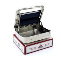 otomatik rulo kutusu toptan satış-DIY GIZEH El Duman Otomatik Rollbox Cihazı Tütün Makinesi Sigara Sıralama Kutusu Paslanmaz çelik Sigara Rulo Aksesuarları K109