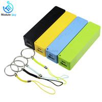 batería usb azul al por mayor-Caja azul / verde / amarilla del banco de la alimentación por USB Kit 18650 Cargador de batería Caja DIY