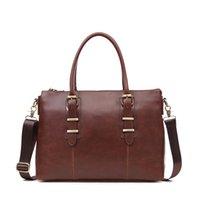 venda de sacos de homens venda por atacado-Grande Capacidade Business Travel Bag Crossbody Melhor Venda Fashion Business Vintage Homens Briefcase saco de 14 polegadas laptop sacos de mão