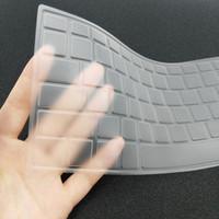 dizüstü bilgisayarlar için silikon kılıflar toptan satış-Koruyucu de la piel de la cubierta del teclado antipolvo para el ordenador Dell CR 15,6 pulgadas