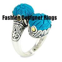 gümüş oval ring erkek toptan satış-Üretici toptan yüzükler avrupa amerikan erkekler için ucuz yüksek kalite gümüş kalp marka 2019 ücretsiz kargo tasarımcısı sarı oval