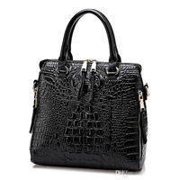 debriyaj çantası deseni bedava toptan satış-Sıcak Yeni Moda Kadınlar Kirpik Paketi PU Deri Çanta Timsah Desen Çanta Omuz Crossbody Çanta Debriyaj Çanta Ücretsiz Kargo