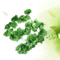 Wholesale grapes for decor for sale - Group buy 6pcs Artificial Vine Decorative Hanging Grape Leaves For Garden Yard Decor Fake Greenery Vine Artificial Plant