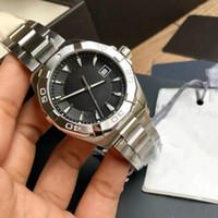 relógio super luminoso venda por atacado-AQUARACER série relógio dos homens tamanho 40.5mm espelho de safira suíço Ronda movimento de quartzo pulseira de aço fino super luminoso ponteiro