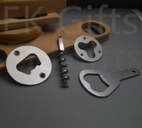 Stainless Steel Bottle Opener Part With Countersunk Holes Round Or Custom Shaped Metal Strong Polished Bottle Opener Insert Parts