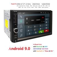 telefone da língua chinesa venda por atacado-2G RAM Android 9.0 Auto Rádio Quad Core 7 Polegadas 2DIN Carro Universal SEM DVD player GPS Unidade de Cabeça de Áudio Estéreo Suporte DAB DVR OBD BT carro dvd