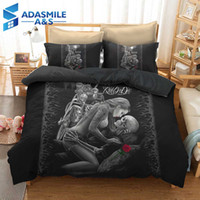 Wholesale bedding duvet children for sale - Group buy 3D Beauty Skull Bed Linens Set Bedclothes Quilt Comforter Cover Adults Children US Twin Queen Bedding Duvet Cover Set
