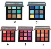 glitzer make-up-kits großhandel-Schönheit glasiert 9Colors Lidschatten-Palette Make-up Shimmer Matte Glitter pigmentierte Lidschatten-Pulver-Palette Einfach zu Shadow Kit tragen