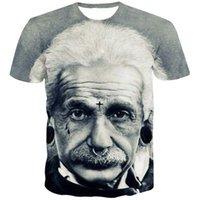 ingrosso grande stampa 3d-ZOGAA 2019 Albert Einstein Maglietta Uomo stampata in 3D E MC2 The Big Bang Theory T-shirt manica corta